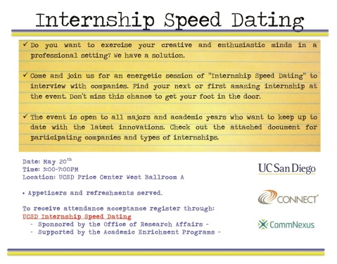 Internship Speed Dating