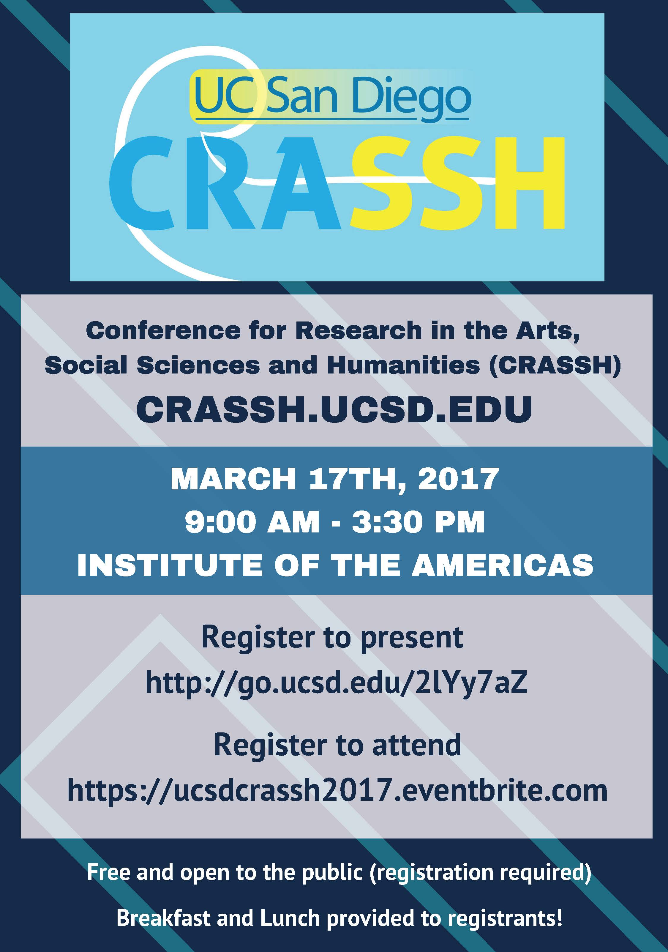 Invitation to the Conference for Research in the Arts Social