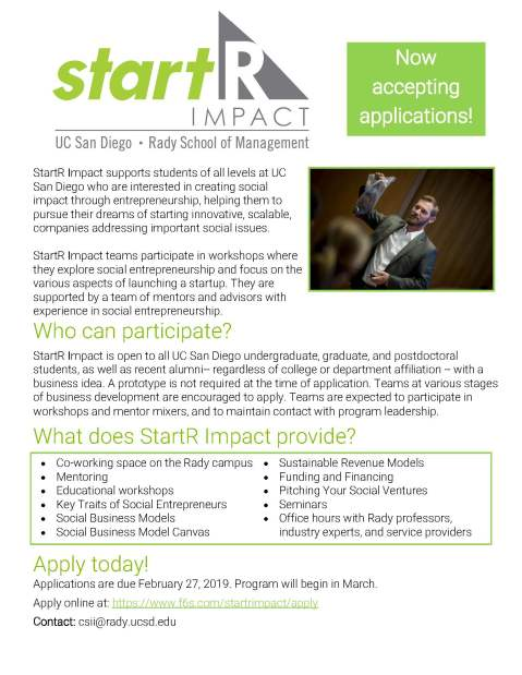 StartR Impact flyer